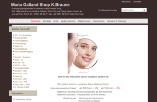 Homme GALLAND Kosmetik Produkte günstig kaufen in unserem Online Shop